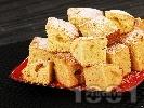 Рецепта Пухкав кекс с прясно мляко и бял шоколад